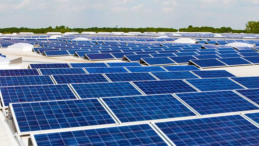 Rooftop solar power for mixed-use building